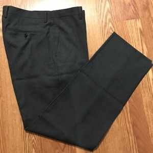 Men's Charcoal Gray 100 Wool Dress Pant Sz 34
